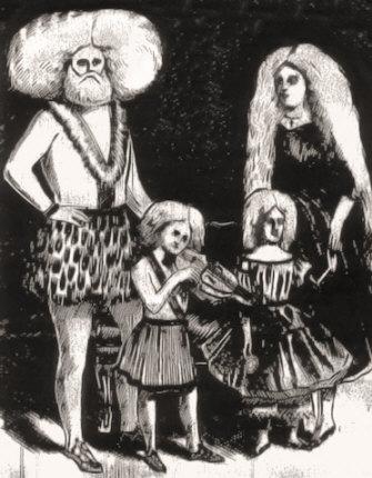 P. T. Barnum's Famous Albino Family.