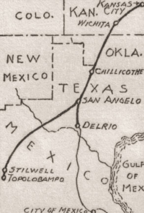 Kansas City, Mexico & Orient Railway Gets Direct Line to Mexico City.