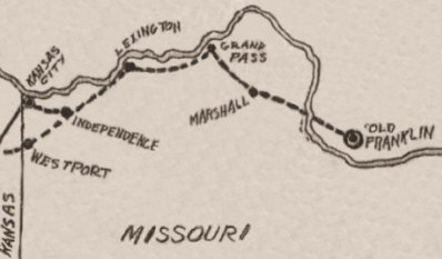 The Path of the Santa Fe Trail in Missouri.