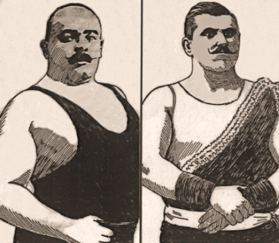 Stanislaus Zbyszko and Karl Alberg, European Wrestlers.