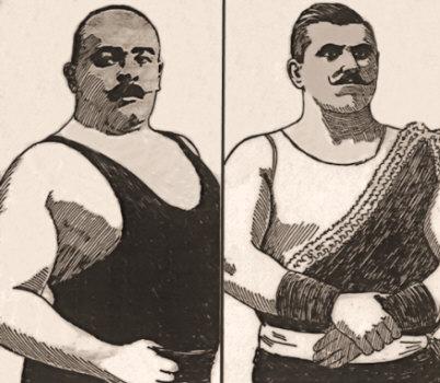 Stanislaus Zbyszko and Karl Alberg, European Wrestlers.